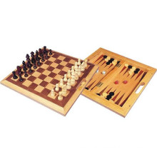 hot selling wooden 3 in 1 chess game board