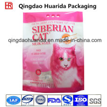 Stand up compuesto de plástico impreso 8L Cat Litter Packing Bag