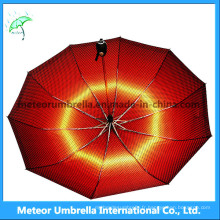 La meilleure mode de voyage en dehors de la pluie rouge, parapluie