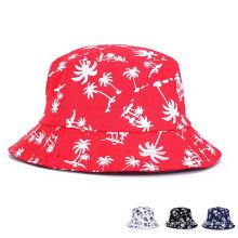 Fashion Printed Cotton Twill Foldable Beach Leisure Bucket Hat (YKY3201)