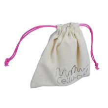 Custom Cotton muslin drawstring bags wholesale