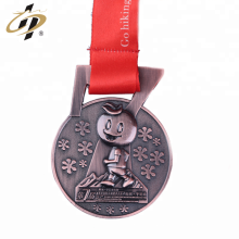 Shuanghua custom 3d bronze metal sports running medal