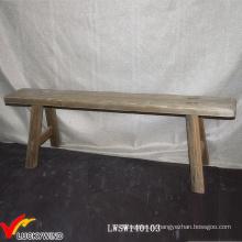 Старинный французский старинный деревянный длинный скамьи