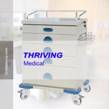 Chariot à tiroirs en tôle d'acier à coloration médicale (THR-ZY105)