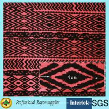 Tecido Rayon Impresso Simples em Fábrica Têxtil