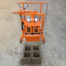 Hollow brick mobile cement block molding machine QT2-45