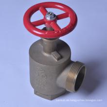 2 1/2 Buchse NPTX 2 1/2 Stecker NST Winkel Brandschutzventil UL / FM Zertifizierung Winkel Brandschutzventil