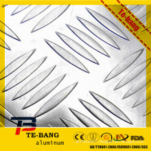 five bars embossed aluminum sheet plate for boat ladder floor