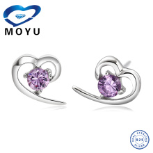 Jewelry fashion Factory Direct heart shaped ruby earrings