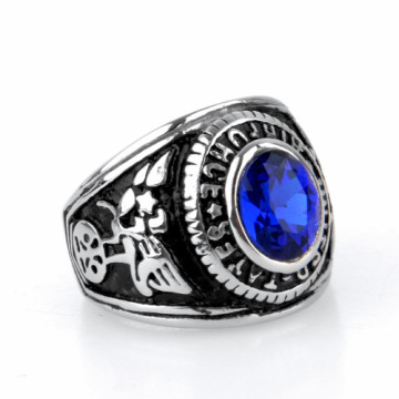 Antique men blue gemstone Finger Ring Designs