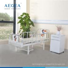 AG-CB001 Cama de clínica de sala de hospital de una función de acero para niños