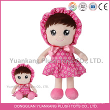 YK ICTI factory cute plush doll colourful stuffed doll toys with embroidery logo