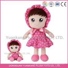 YK ICTI fábrica boneca de pelúcia bonito colorido boneca de pelúcia brinquedos com logotipo do bordado