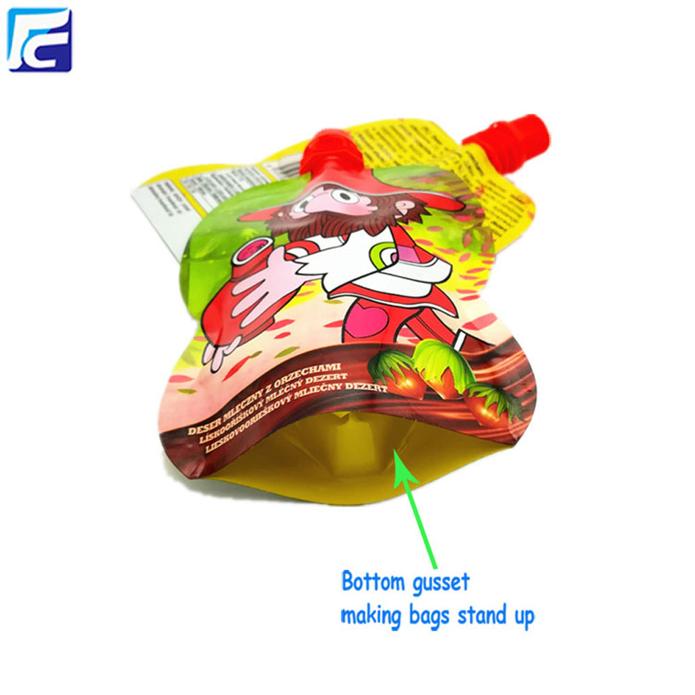 Stand up juice plastic bag