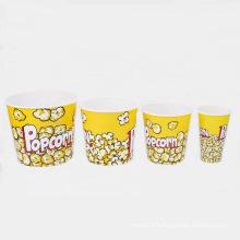 6 tailles disponibles Seau en popcorn en plastique (B06-A1)