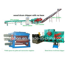 Industrial Casera Mobile Drum Wood Chipper Precio de la máquina