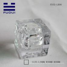 Heißer Verkauf! 2015 ins Auge fallende freie transparente quadratische Lippenbalsamröhre gebildet im Porzellan für Großverkauf