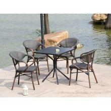 Garden Patio Furniture UK France Bistro Aluminum Bamboom Mesh Starbucks Restaurant Chairs