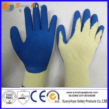 Cripple Finish Latex getaucht Baumwolle Arbeit Handschuhe
