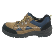 Black and Coffee Suede Upper Safety Shoes (HQ01020)