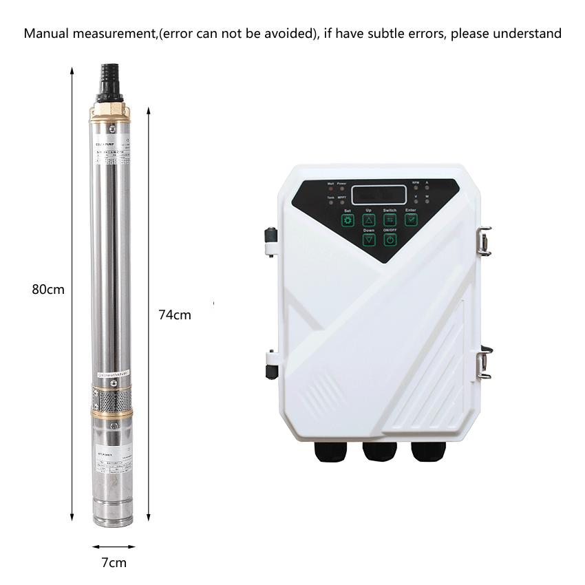 Pompes à eau solaires submersibles DC de 3 pouces mini 24 volts