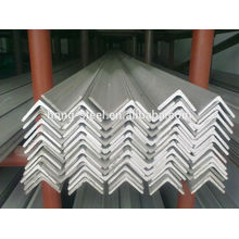 304 acero inoxidable ángulo barra inferior precio de fábrica con alta calidad