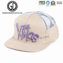 2016 Personnalisé Réglable Velcro Maille Mode Chapeau Snapback Sports Baseball Cap avec Broderie