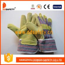 Pig Skin Cotton Back for General Working Gloves DLP503
