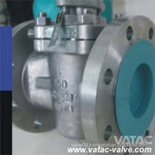 Cast Steel Ss304/Ss316 RF Flanged Soft Seat Jacketed Plug Valve