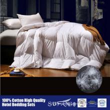 100% algodón a prueba de agua tela de uso doméstico y hotel pato edredón de pluma de ganso edredón de pluma de ganso edredón