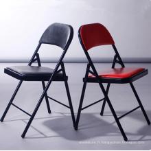 chaise de réunion de bureau de haute qualité de table de réunion de bureau chaise partie colorée se pliant chaises / chaise de dossier / chaise d'événements