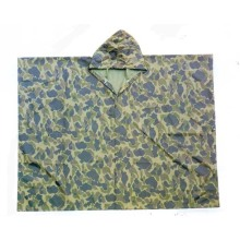 Yj-6011 Camouflage à capuche personnalisé Travel Bike Rain Poncho Mens