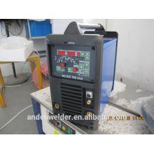 Inverter ac dc tig máquinas de soldadura con ventiladores de refrigeración
