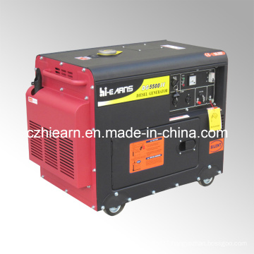 4kw Portable Air-Cooled Silent Diesel Generator Price (DG5500SE)