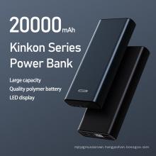 Remax Join Us 2021 Kikon Series LED Digital display type-c 2 Usb Charger metal Power Bank 20000mah