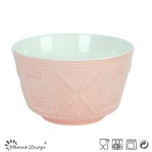 14cm Ceramic Bowl Embossed Design Two Tone