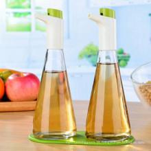 Azeite e vinagre Sprayer garrafa de vidro com controle de fluxo ajustável para Cozinha Cozinha