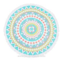 Australia Popular Bright Color Mandala Round beach towel BT-540 China Supplier