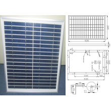 12V 18V 18W 20W 22W polykristallines Solarmodul PV-Modul mit TÜV genehmigt