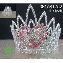 New designs rhinestone royal accessories wholesale custom crystal pageant crown