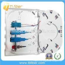 Caja de terminales de fibra óptica SC / LC / FC FTTH, placa de fibra óptica de 4 puertos