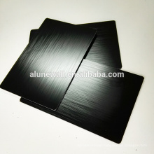 Black brush aluminum composite acp panel for TV back board