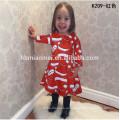 Оптовая 3 4 5 6 7-летней девочки платье для Рождественской 2017 девочка платье детей платьях конструкций