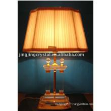 Lampe de table classique en verre à bille claire avec teinte en Chine