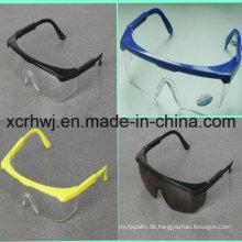 Transparente Linse mit gelber Rahmen Sicherheitsbrille (HL-016), Schutzbrille, Brille, Ce En166 Schutzbrille, PC-Objektiv Sicherheitsbrille