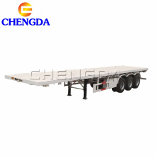 3 Axles 40 feet flatbed container semi trailer