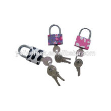 Arc pin type color iron padlock