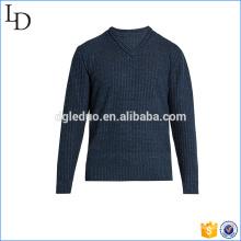 Suéter de cuello en v de Europa teje el material de acrílico suave para los hombres
