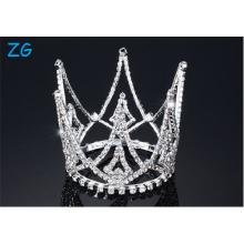 Bridal Prom Flower Girl Rhinestone Full Circle Round Mini Tiara Crown