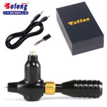Solong M672 Electric Swiss Motor with Grip Permanent Makeup Pen Rotary Tattoo Machine Gun With Needles